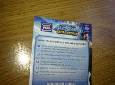 Fysieke Network Pass Playstation All-Stars Battle Royale