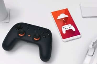 google stadia controller smartphone