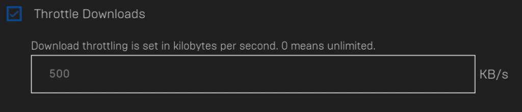 epic games store bandwidth throttling
