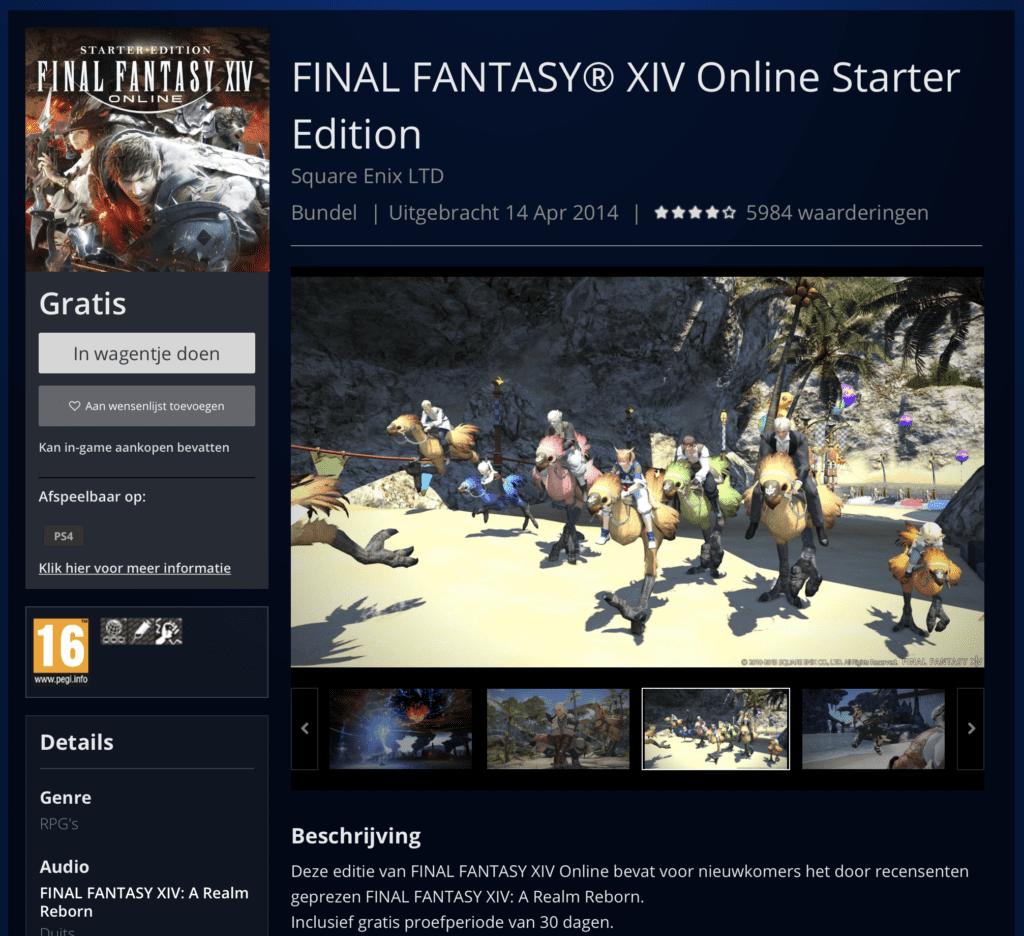 final fantasy xiv online starter edition playstation store