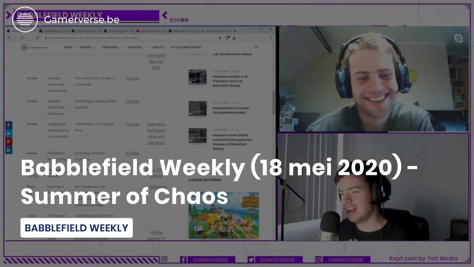 babblefield weekly summer of chaos