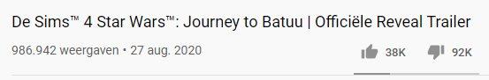 sims 4 journey to batuu reveal trailer dislikes