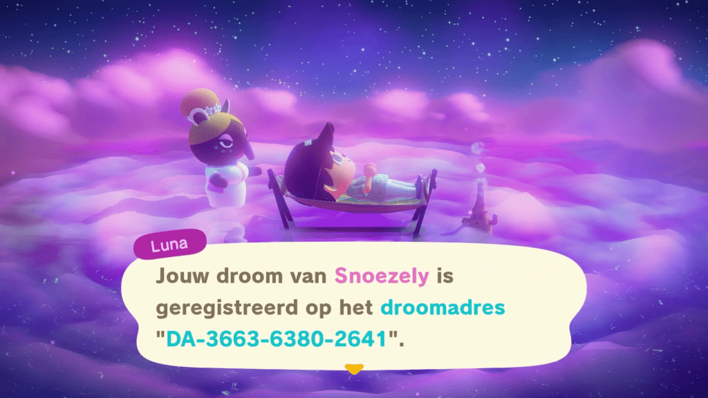 animal crossing new horizons droomadres