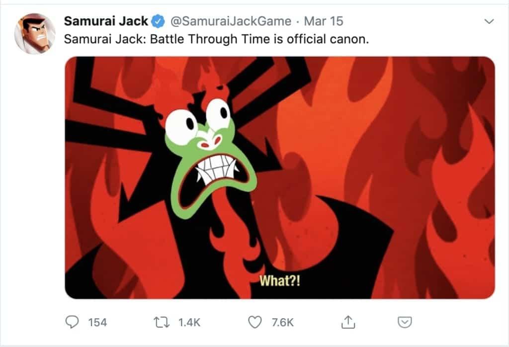 samurai jack battle through time canon