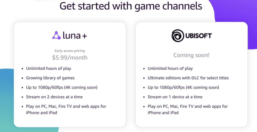 amazon luna channels