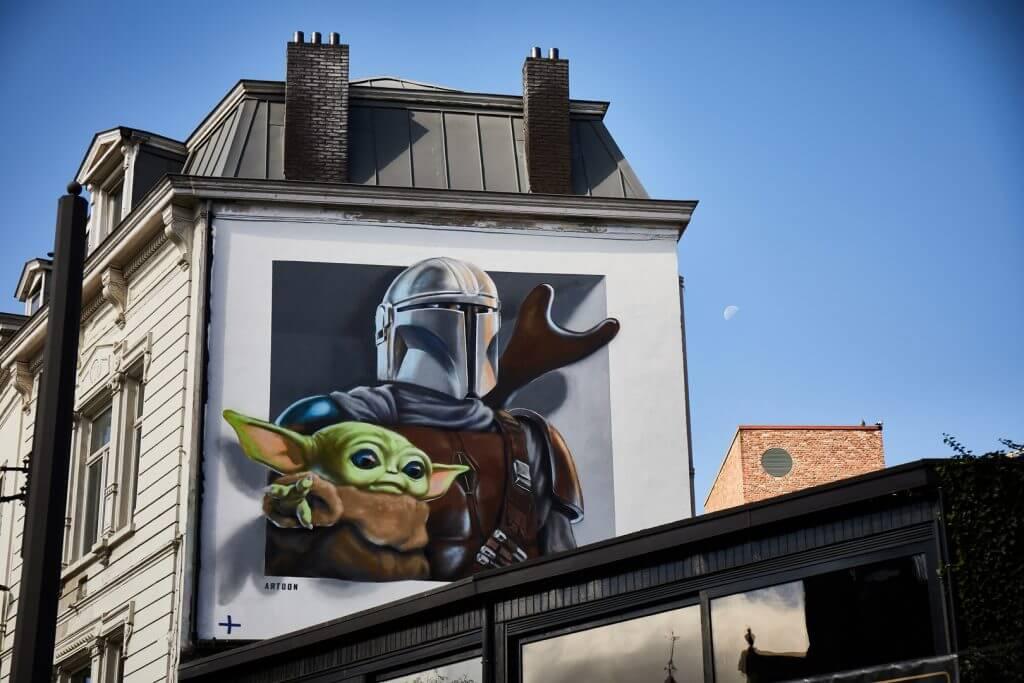 Disney Plus mural antwerpen