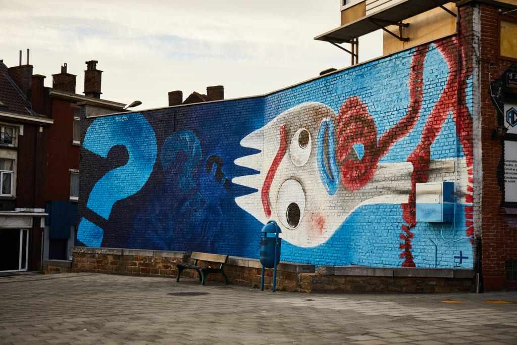 disney plus mural charleroi forky