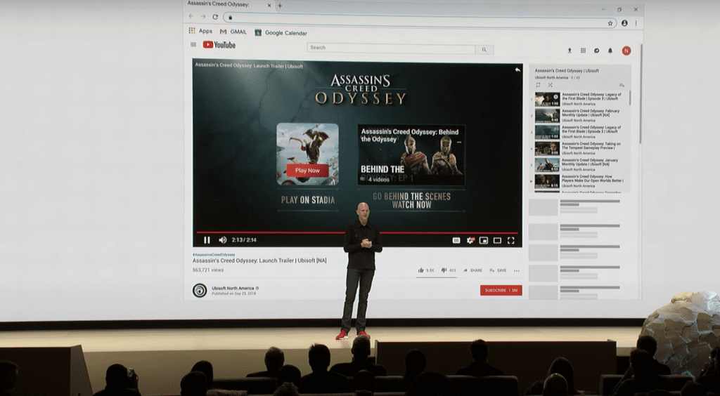 stadia youtube integration