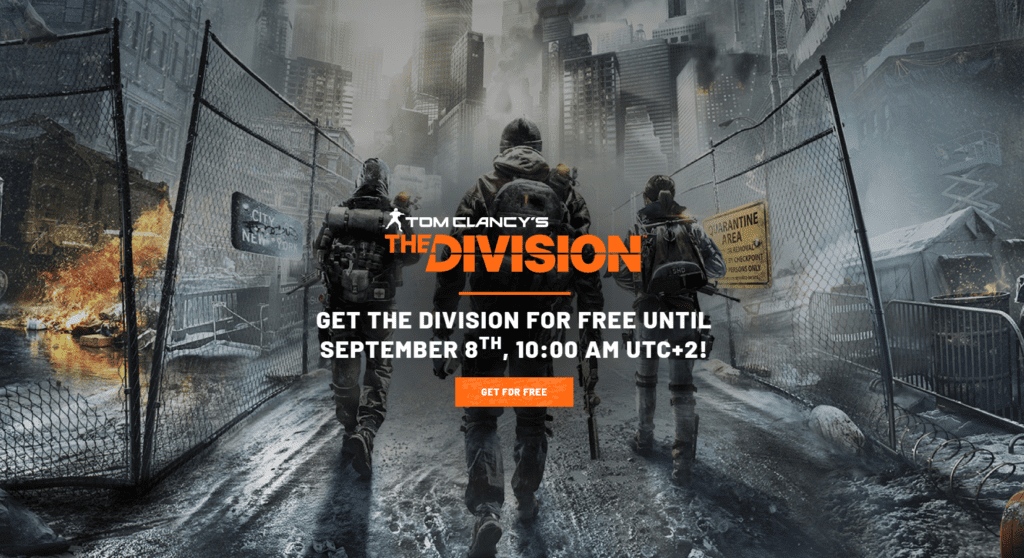 tom clancy's the division gratis uplay