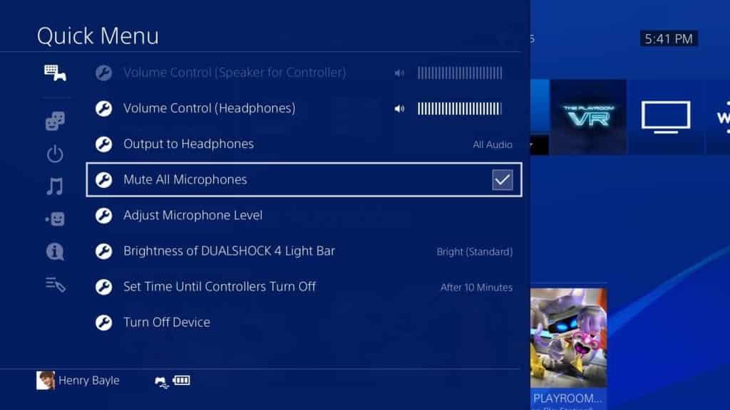 playstation 4 update 8.00 mute mic