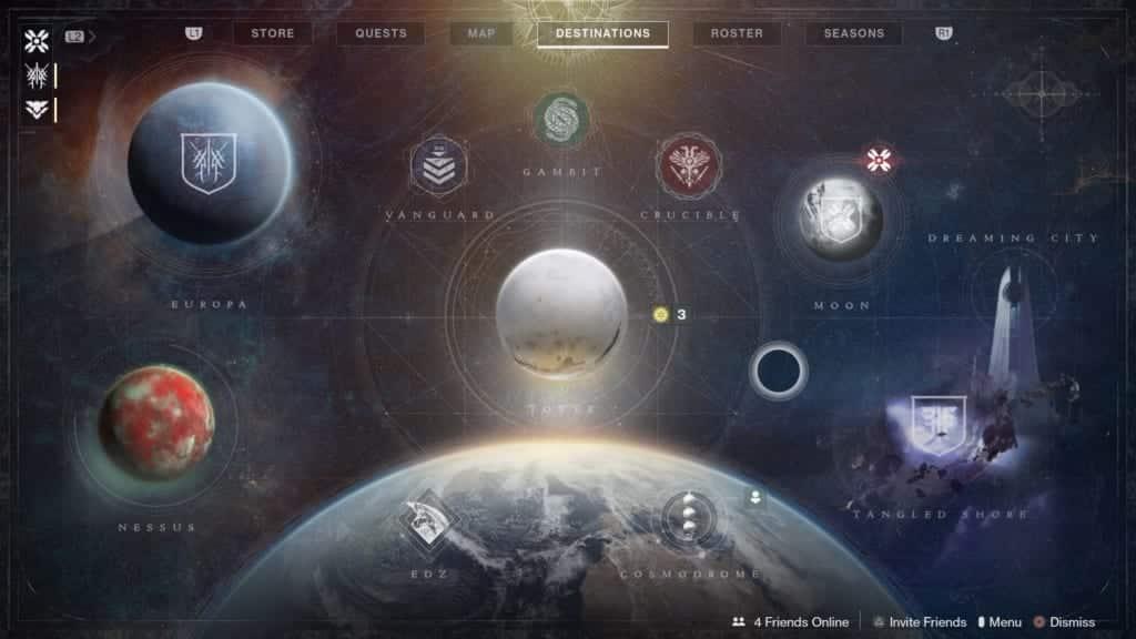 Destiny 2 Beyond Light nieuwe UI