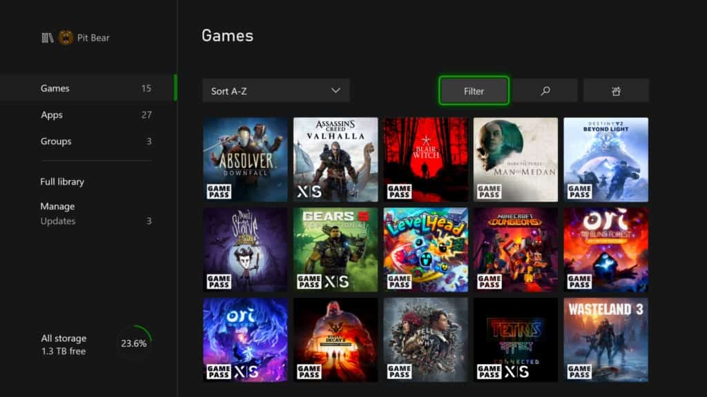 xbox my games and apps