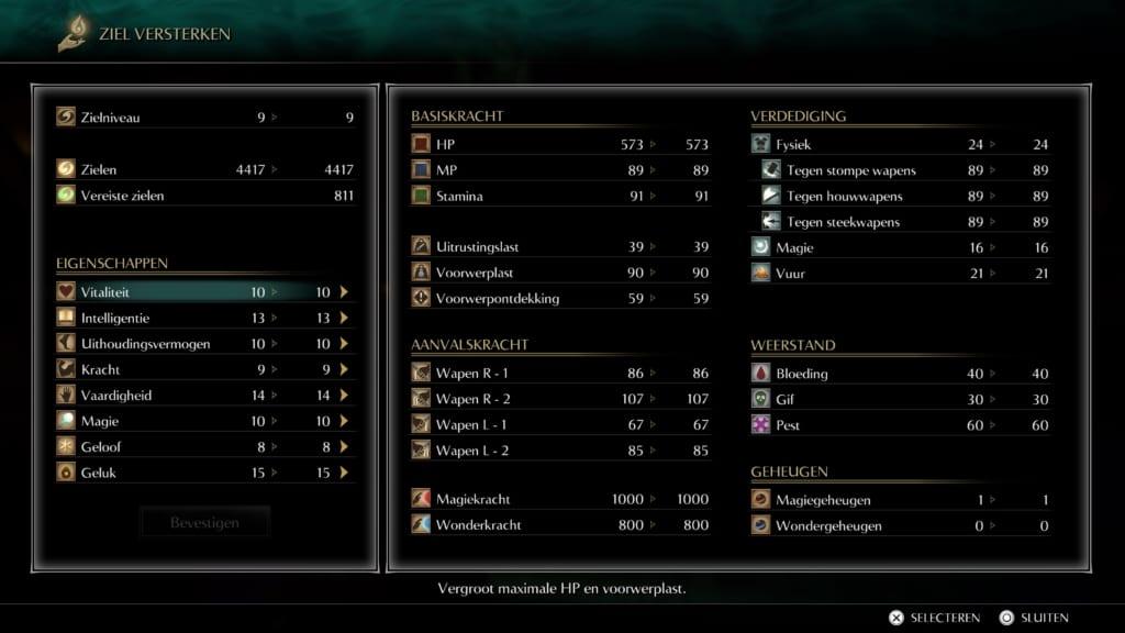 Level up Demon's Souls