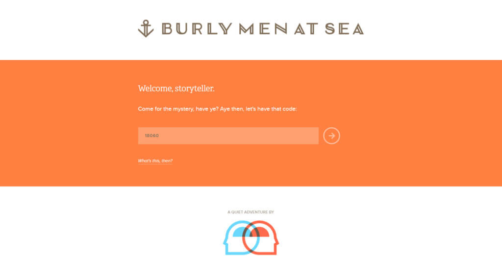 burly men at sea mystery page