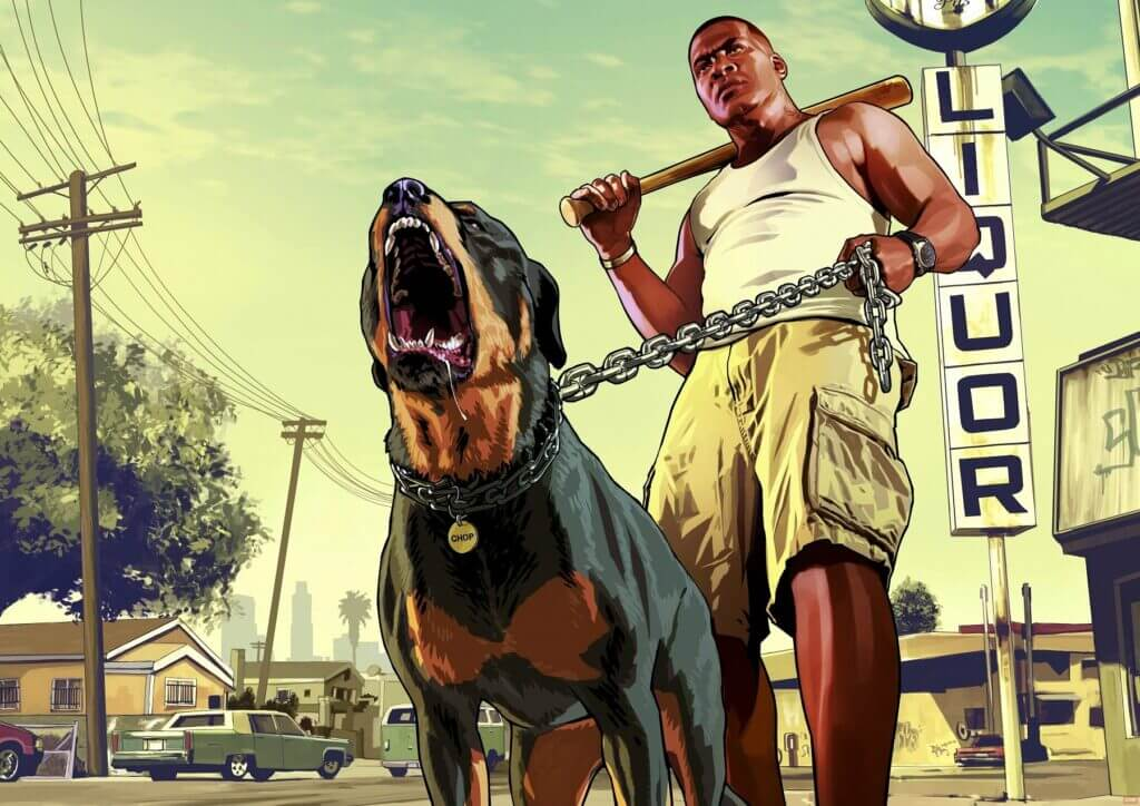 Chop uit GTA V is een van de meest behulpzame honden in games