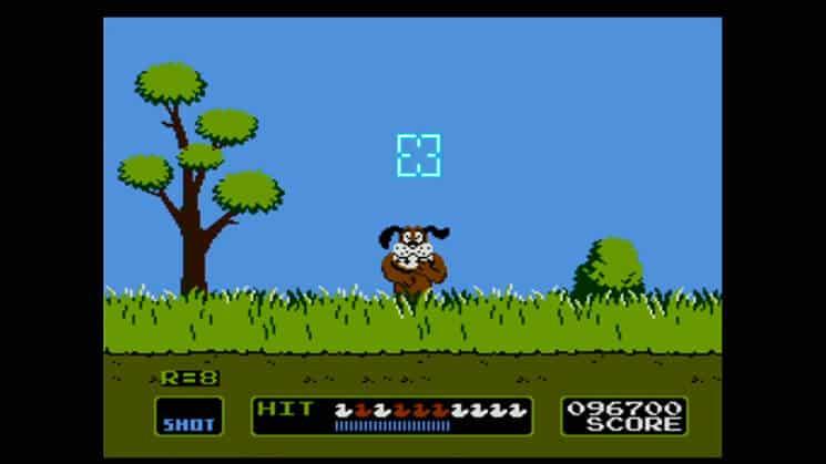 Dog uit Duck Hunt lacht de spelers uit en is een van de meest vervolgende honden in games